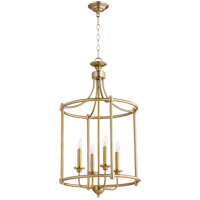 Quorum 6822-4-80 Rossington 4 Light 18 inch Aged Brass Mini Chandelier Ceiling Light