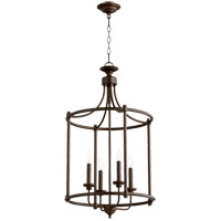 Quorum 6822-4-86 Rossington 4 Light 18 inch Oiled Bronze Foyer Pendant Ceiling Light