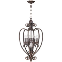 Quorum International Summerset 6 Light Foyer Light in Toasted Sienna 6826-6-44