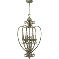 Quorum International Summerset 6 Light Foyer Light in Mystic Silver 6826-6-58