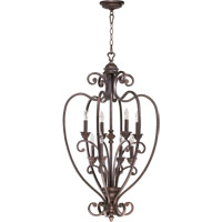 Quorum International Summerset 8 Light Foyer Light in Toasted Sienna 6826-8-44