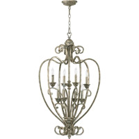 Quorum International Summerset 8 Light Foyer Light in Mystic Silver 6826-8-58