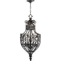 Quorum 6831-6-86 Marcela 6 Light 15 inch Oiled Bronze Foyer Light Ceiling Light