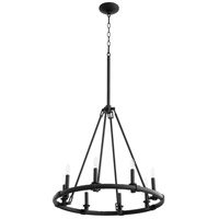 Quorum 6833-8-69 Ronda 8 Light 25 inch Noir Chandelier Ceiling Light