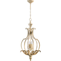 Quorum 6837-4-70 Florence 4 Light 17 inch Persian White Mini Chandelier Ceiling Light