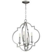 Quorum 6842-4-64 Dublin 4 Light 18 inch Classic Nickel Pendant Ceiling Light, Quorum Home