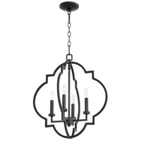 Quorum 6842-4-69 Dublin 4 Light 18 inch Noir Foyer Pendant Ceiling Light, Quorum Home