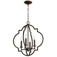 Quorum 6842-4-86 Dublin 4 Light 18 inch Oiled Bronze Pendant Ceiling Light, Quorum Home