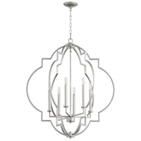 Quorum 6842-6-64 Dublin 6 Light 30 inch Classic Nickel Pendant Ceiling Light