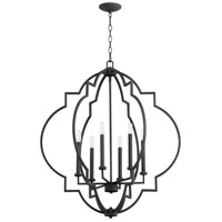 Quorum 6842-6-69 Dublin 6 Light 30 inch Noir Pendant Ceiling Light