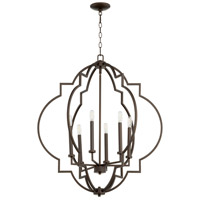 Quorum 6842-6-86 Dublin 6 Light 30 inch Oiled Bronze Pendant Ceiling Light