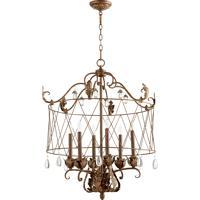 Quorum Venice 6 Light Pendant in Vintage Copper 6844-6-39