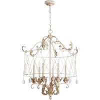 Quorum 6844-6-70 Venice 6 Light 28 inch Persian White Pendant Ceiling Light