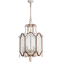 Quorum 6852-6-56 La Maison 6 Light 21 inch Manchester Grey with Rust Accents Foyer Light Ceiling Light