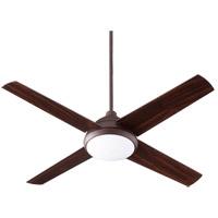 Quorum 68524-86 Quest 52 inch Oiled Bronze with Walnut Blades Indoor Ceiling Fan