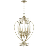 Quorum 6854-9-60 Bryant 20 inch Aged Silver Leaf Entry Pendant Ceiling Light