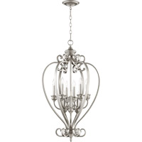 Quorum International Bryant 9 Light Foyer Light in Classic Nickel 6854-9-64