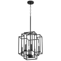 Quorum 6867-6-69 Torres 6 Light 16 inch Noir Pendant Ceiling Light