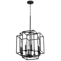 Quorum 6867-8-69 Torres 8 Light 18 inch Noir Pendant Ceiling Light