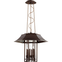 Vanguard 6 Light 21 inch Oiled Bronze Foyer Light Ceiling Light