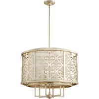 Quorum 6875-6-60 Bastille 6 Light 28 inch Aged Silver Leaf Pendant Ceiling Light