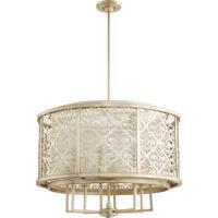 Quorum 6875-8-60 Bastille 8 Light 31 inch Aged Silver Leaf Pendant Ceiling Light