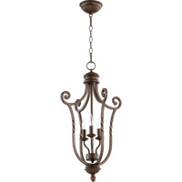 Quorum 6878-3-86 Tribeca II 3 Light 15 inch Oiled Bronze Foyer Light Ceiling Light