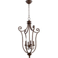 Quorum 6878-4-86 Tribeca II 4 Light 19 inch Oiled Bronze Foyer Light Ceiling Light