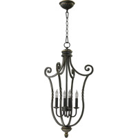Quorum International Tribeca 4 Light Foyer Light in Old World 6878-4-95