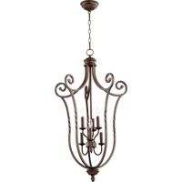 Quorum 6878-6-86 Tribeca II 6 Light 21 inch Oiled Bronze Foyer Light Ceiling Light