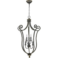 Quorum International Tribeca 6 Light Foyer Light in Old World 6878-6-95