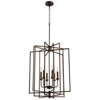 Quorum 688-6-86 Hammond 6 Light 22 inch Oiled Bronze Entry Ceiling Light