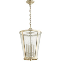 Quorum Signature 4 Light Foyer Light in Aged Silver Leaf 689-4-60