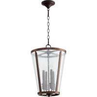 Quorum 689-4-86 Signature 4 Light 13 inch Oiled Bronze Foyer Light Ceiling Light
