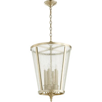 Quorum Signature 6 Light Foyer Light in Aged Silver Leaf 689-6-60