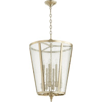 Signature 8 Light 18 inch Aged Silver Leaf Foyer Light Ceiling Light