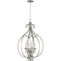 Quorum 6894-4-64 Randolph 4 Light 19 inch Classic Nickel Foyer Light Ceiling Light