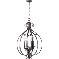 Quorum International Randolph 4 Light Foyer Light in Oiled Bronze 6894-4-86