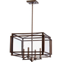 Quorum 6904-4-86 Kaufmann 4 Light 27 inch Oiled Bronze Foyer Light Ceiling Light