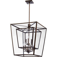 Quorum 6904-9-86 Kaufmann 9 Light 31 inch Oiled Bronze Foyer Light Ceiling Light