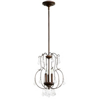Quorum 6905-3-39 Ariel 3 Light 13 inch Vintage Copper Pendant Ceiling Light