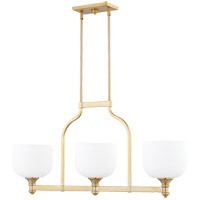 Quorum 6911-3-180 Richmond 3 Light 38 inch Aged Brass Island Light Ceiling Light