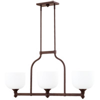 Quorum 6911-3-186 Richmond 3 Light 38 inch Oiled Bronze Island Light Ceiling Light