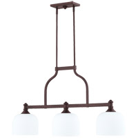 Quorum 6911-3-86 Richmond 3 Light 38 inch Oiled Bronze Island Light Ceiling Light