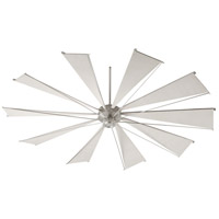 Mykonos 92 inch Satin Nickel with Gray Blades Ceiling Fan