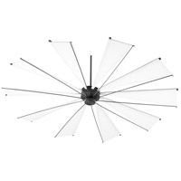 Mykonos 92 inch Noir with White Blades Ceiling Fan