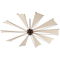 Quorum 69210-86 Mykonos 92 inch Oiled Bronze with Khaki Blades Ceiling Fan