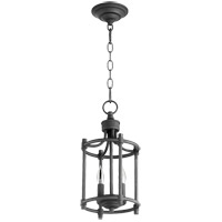 Quorum 6922-2-69 Signature 2 Light 8 inch Noir Foyer Pendant Ceiling Light Small