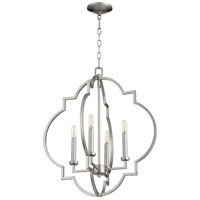 Quorum 6942-4-64 Dublin 4 Light 22 inch Classic Nickel Pendant Ceiling Light, Quorum Home
