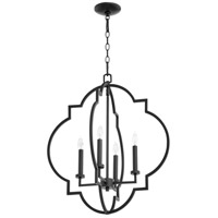 Quorum 6942-4-69 Dublin 4 Light 22 inch Noir Foyer Pendant Ceiling Light, Quorum Home